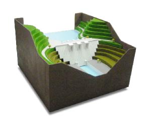 ダムたわみ測定装置デモ模型